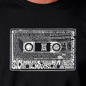 NEW Graphic 80's LA Pop Art/ word art T-shirt